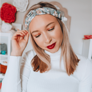Grey Floral Twist Turban