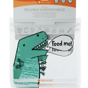 Reusable Sandwich Bags 2 pk Dino