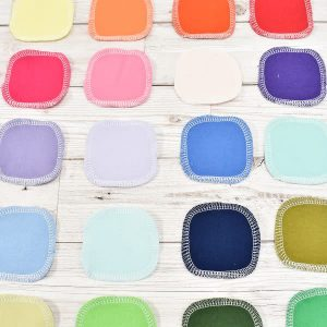 100% Cotton Flannel Facial Rounds – Rainbow