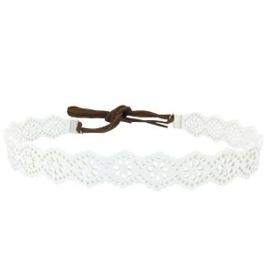 White Choker Headband
