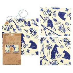 Bees + Bears Print – ASSORTED Set of 3 Sizes (S, M, L) – Bee's Wrap
