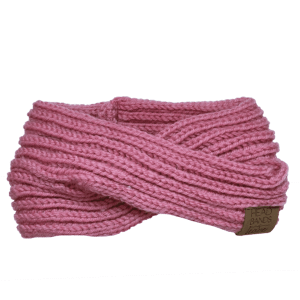 Criss Cross Knitted in Pink