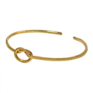 Forget-me-knot cuff brass