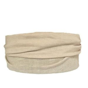 Beige Tube Turban