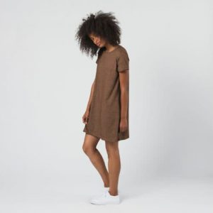 Aria Dress White/Nutmeg M