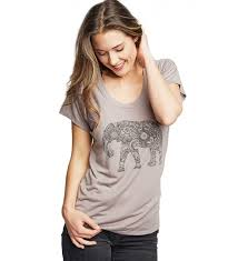 Magic Elephant Tee – Pebble Brown L