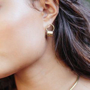 Revel Earrings Brass