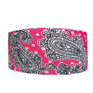 Grey and Pink Paisley Tube Turban