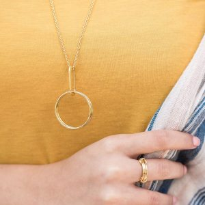 Alta Necklace brass