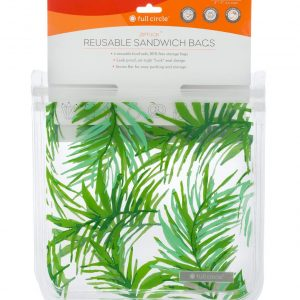 Reusable Sandwich Bags 2 pk Palm Leaves