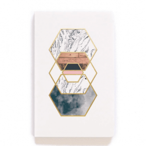 Gold Hexes Lined Notebook