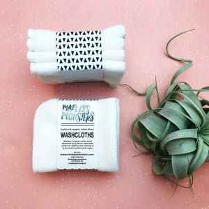 4 Organic Bamboo Wash Cloths