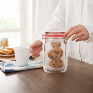 Large Mason Jar Reusable Zip Lock