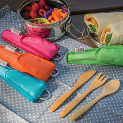 Kids utensil set berry
