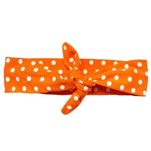 Orange Polka Knotted