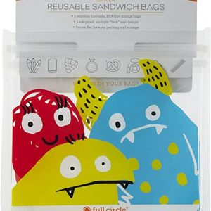 Reusable Sandwich Bags 2 pk Monsters