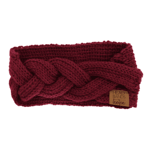 Winter Braid Headband in Maroon