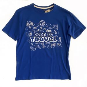 Born to Travel Blue T-Shirt – M
