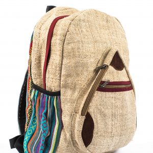 100% Handmade Hemp Backpack – Drop Top