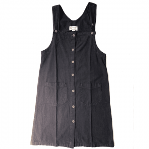 100% Handmade Black Corduroy Dress L