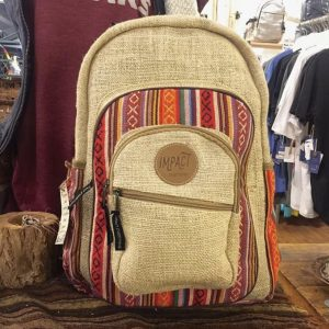 100% Handmade Hemp Backpack – Taste The Rainbow