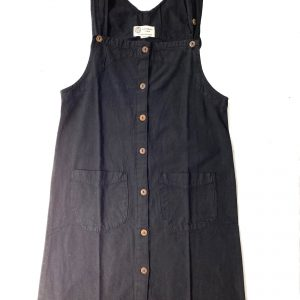 100% Handmade Black Corduroy Dress