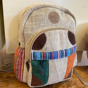 100% Handmade Hemp Backpack – Triple Striped